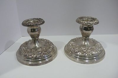 S. Kirk & Sons Repousse Silver Candle Holders Vintage #302258100