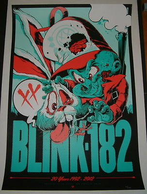 Blink 182 20th Anniversary Poster Print Ken Taylor 2012 Numbered