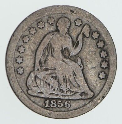 Great Detail - 1856 Seated Liberty Half Dime - Early American Type Coin *600