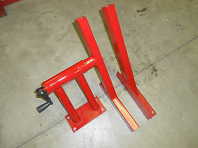 FRONT WHEEL VISE VICE CLAMP PLANS! For motorcycle lift. Harley bagger Copper