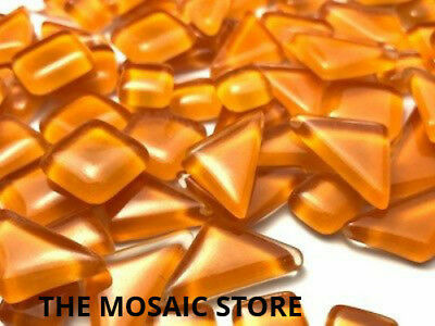 Orange Crystal Glass Melts - Mosaic Art Craft Tiles Supplies