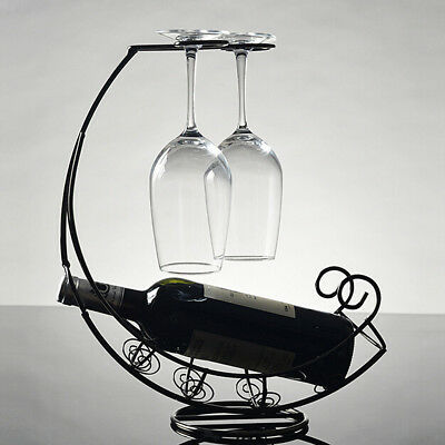 Vintage Metal Wine Rack Kitchen Organiser Holder Storage Display Table Stand