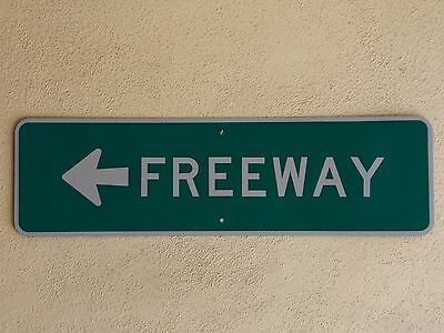 FREEWAY entrance interstate highway route road traffic warning sign AUTHENTIC