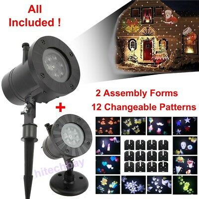 Laser Light Show Projector Festival Xmas Night House Landscape Garden Outdoor
