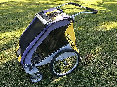 Chariot Cabriolet Double Child Bike Trailer / Double Pram / Jogger