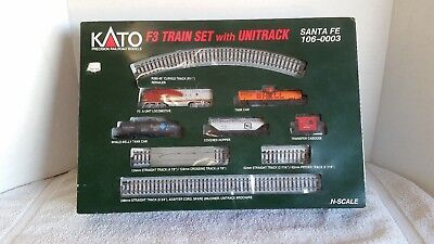 KATO F3 Train Set with Unitrack n-scale Santa Fe 106-0003
