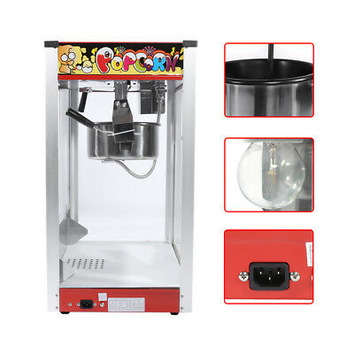 Commercial High Capacity Popcorn Maker Stainless Steel Snack Automatic Machine