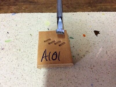 Leathercraft leatherwork leather Tandy craftool stamp BACKGROUNDER A101