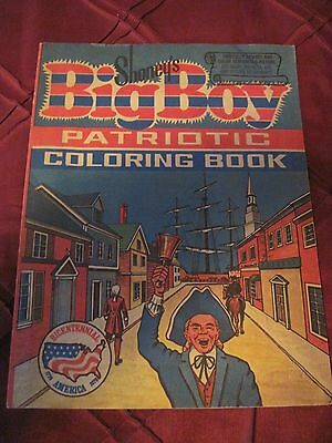 Shoney's Big Boy Patriotic Coloring Book..Vintage..Coloring on 1 page..free ship