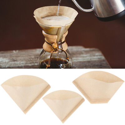 40Pcs Coffee Paper Filter Cones Count Natural Unbleached Burlywood Replacement H