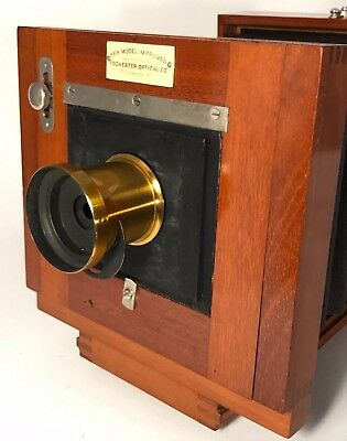RARE! Rochester Optical New Model Improved 4x5 Wood Camera