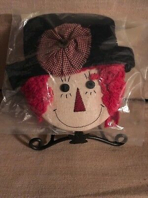 Heart of Dresden Scarecrow Face/Hat for Longaberger Wrought Iron Small Snowman