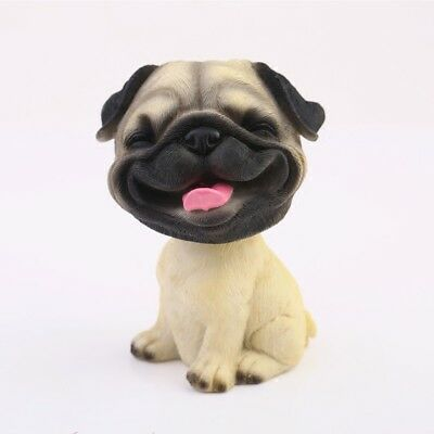 Laugh Pug Pekingese Perky Dog Bobbing Head BobbleHead Car Home Ornament Decor