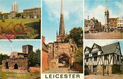 Picture Postcard- Leicester (Multiview) [Salmon]
