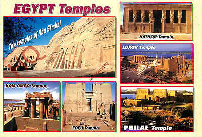 Picture Postcard; Egypt, Temples (Multiview)