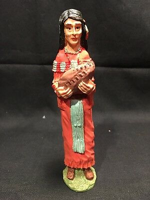 """Fym American Indian Native Woman Baby Resin Figurine 6"""" Statue"""