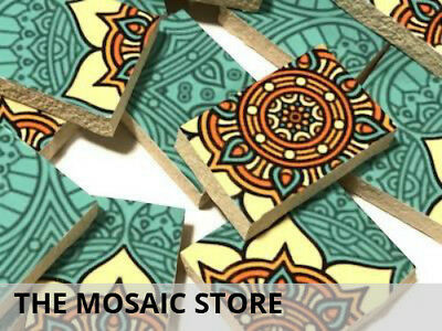 Handmade Patterned Ceramic Tiles Irregular Cut | Mosaic Tiles Supplies Art Craft