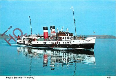 Picture Postcard~ PADDLE STEAMER WAVERLEY