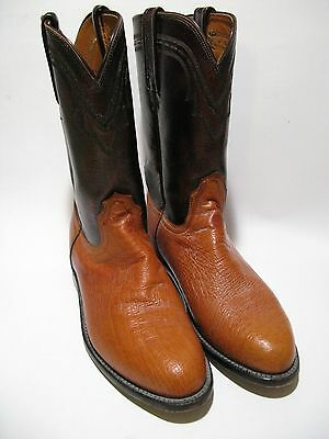 Lucchese smooth ostrich woman's 8 1/2 b med western boots