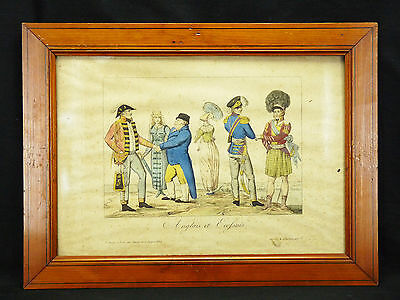 Ecossais et Englais :framed print scottish costume Victorian fashion uniform