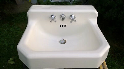 American Standard Retro Cast Iron White Porcelain Sink Mfg. Date 3-6-1950