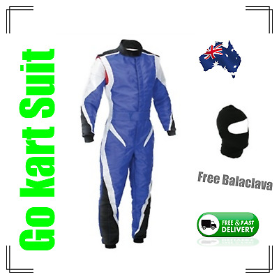 Go Kart Race Suit with free balaclava - (Fast postage, local stock) - cool blue