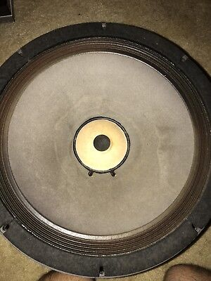 "ALTEC LANSING MODEL 515 8G-hp Very Rare 15"" WOOFER.pair.one Cone Damage.works"