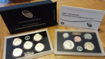 2017-S 225th Anniversary Enhanced Uncirculated Coin Set