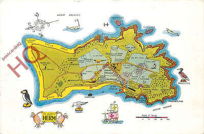 Picture Postcard, Herm, Map