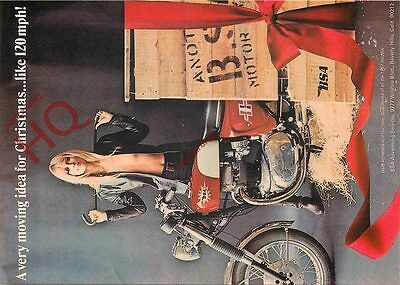 Picture Postcard: MOTORCYCLE, 1967 BSA ROCKET ADVERTISING (REPRO)