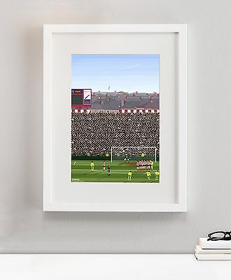 Newcastle United NUFC St James Park O'Brien Football Soccer Art Painting Framed
