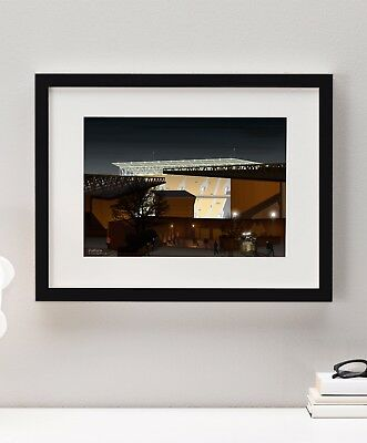 Wolves WWFC Football Soccer Art Molineux Stadium Painting Print Framed