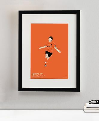 Dundee United Craig Conway Final 2010 Football Soccer Art Painting Print Framed