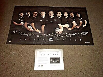 All Blacks New Zealand Rugby Union 2015 Signed Print