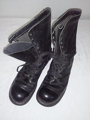 Post WW2 WWII Canadian Combat Jump Parachute Boots 1952 D 9 1/2