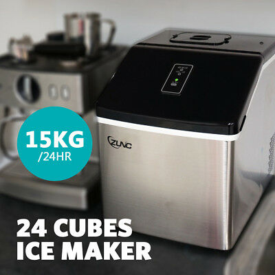 Ice Maker 24 Cube 20kg Machine Fast Benchtop Portable Freezer For Home Office AU