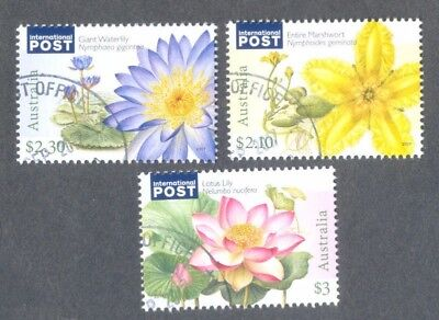 Australia-Water plants 2017 fine used-cto set-Flowers