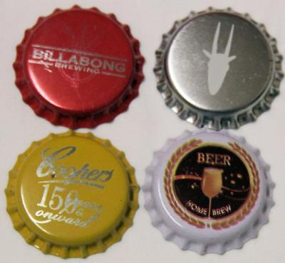 Collectible Group Of 4 Uncrimped Australian Bottle Caps/tops Group 21 - New