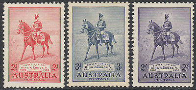 Nice Australia commemorative set 1935 Silver jubilee King George V MLH