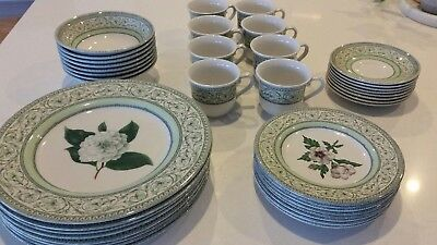 Royal Horticultural Society Applebee Collection  Dinner Set dinnerset for 8 VGC