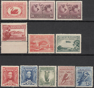 Nice Australia collection of early mint commemorative stamps mlh