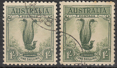 Nice Australia commemorative set 1932 1/- green Lyrebird CTO issues