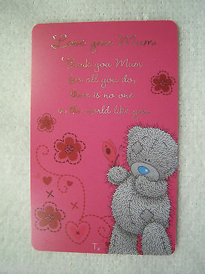 Me To You -   ' Love You Mum Keepsake Card '  -  Brand New