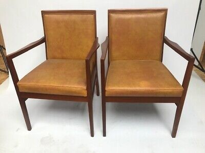 Pair of  Vintage Danish Style Mahogany Lounge Chairs - FREE Shipping [PL3987]