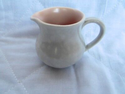 Small Pink Two-Tone Poole Pottery Cream Jug