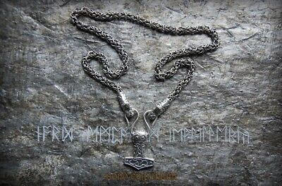 Mysterious Thor Hammer Necklace Sterling Silver