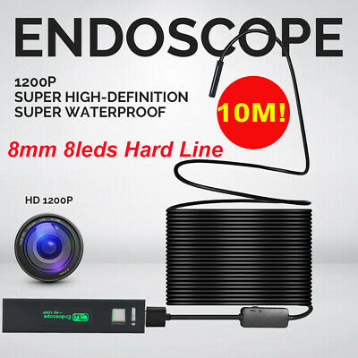 10M Hard Line Wifi Endoskope 8LEDs 1200P Kamera Inspektion Borescope For Android