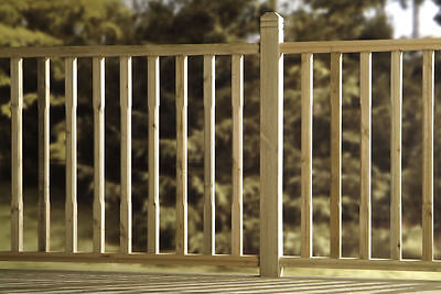 Square Chamfered Green Treated Decking Kit