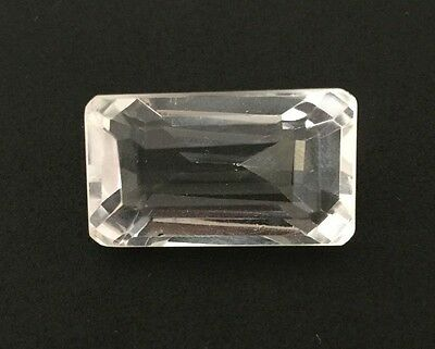 34.73 Ct Natural Crystal Quartz Rectangle Emerald Cut White Colorless Loose Gems