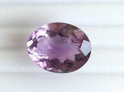 13.75 Ct Natural Amethyst Loose Gemstones Purple Oval Faceted Cut 18X14Mm Nice